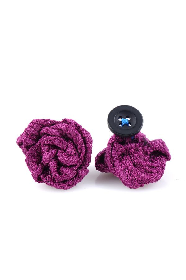Button lapel flower RUBINO - Grenadine silk-Light Purple