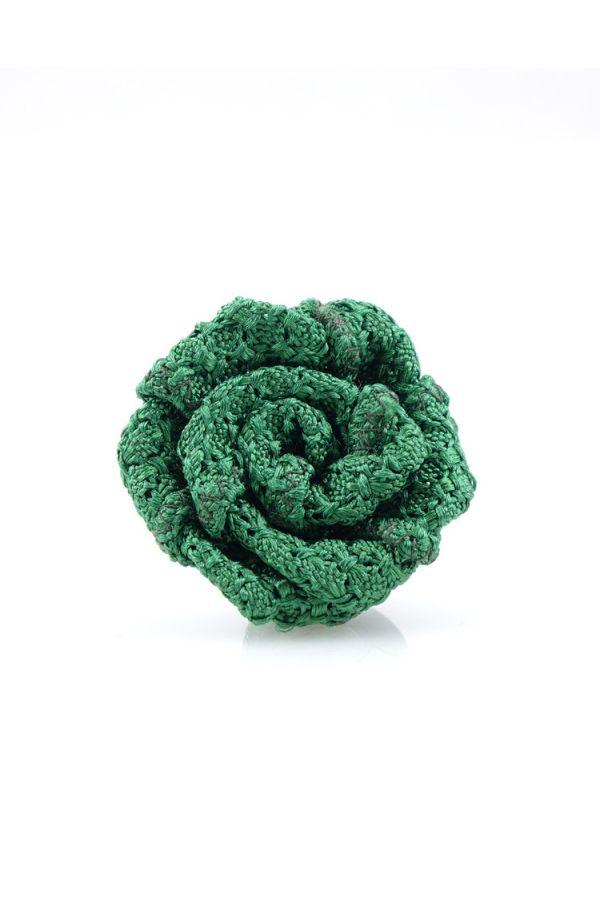 Button lapel flower RUBINO - Grenadine silk-Light Green