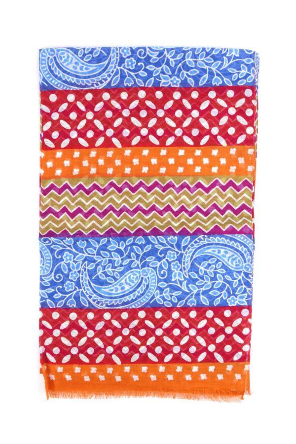Sciarpa cotone/lino Arancione  - ADIGE