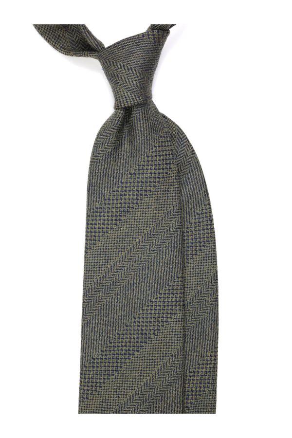 Cravatta 3 Pieghe TIME lana - Verde