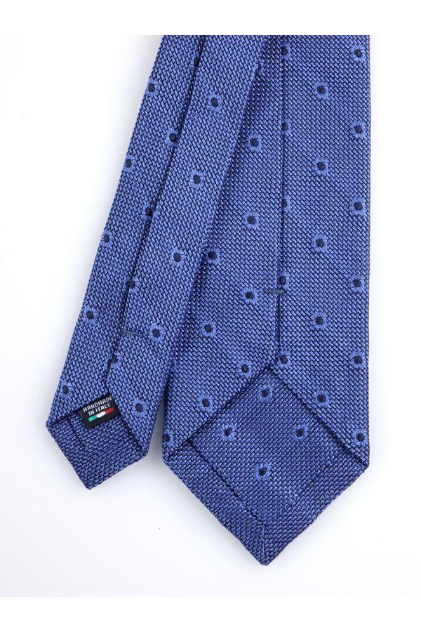 English knot grenadine 3 fold necktie TIRELLA - Royal blue