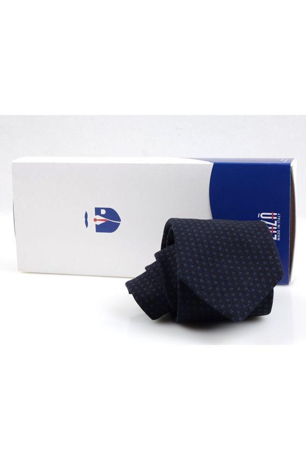 Cravatta 3 Pieghe TORLES lana - Blu Scuro