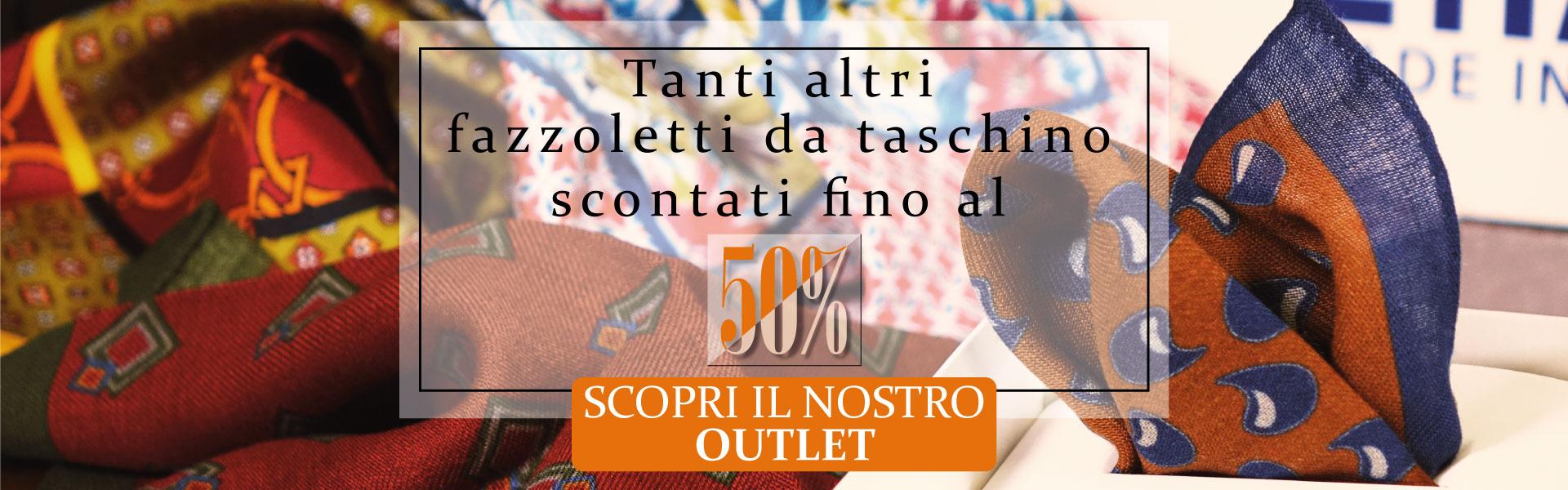 Fazzoletti da taschino fatti a mano in Italia - Vecchie collezioni in offerta fino al 50%