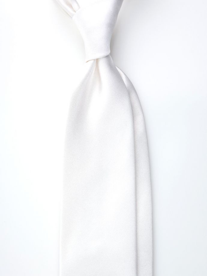 cravatta bianca seta raso cerimonia