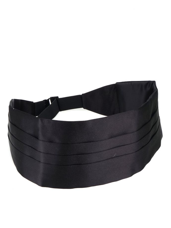 fascia da smoking nera seta