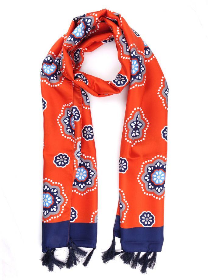 sciarpa arancione seta