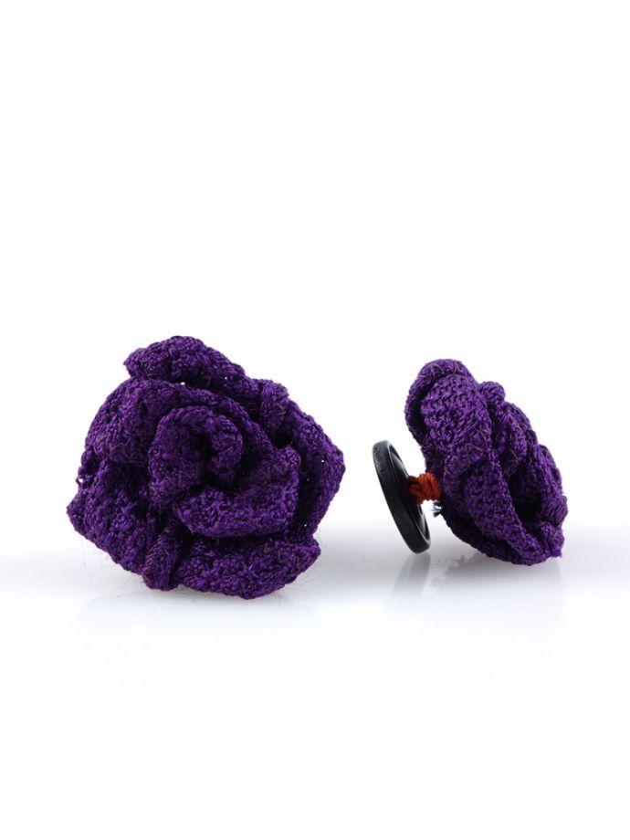 spilla da giacca viola