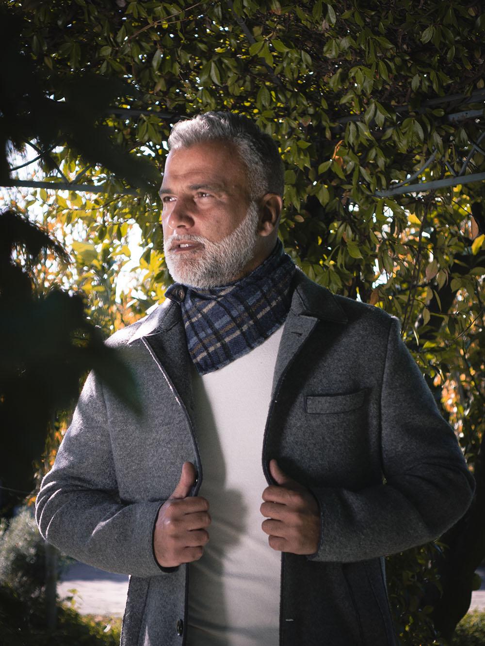 Scaldacollo in lana - foto particolare - Collezione Zazà autunno 2020