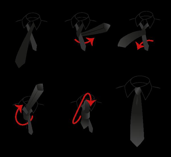 nodo semplice alla cravatta sartoriale