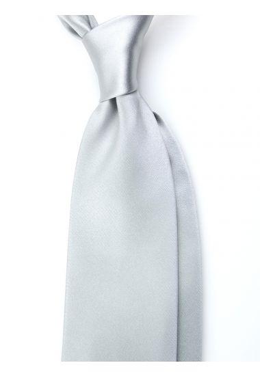 Cravatta 3 pieghe AMANTEA in seta raso - Grigio