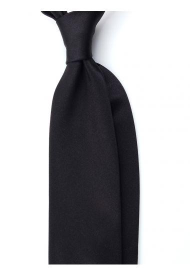 Cravatta 3 pieghe AMANTEA in seta raso - Nero