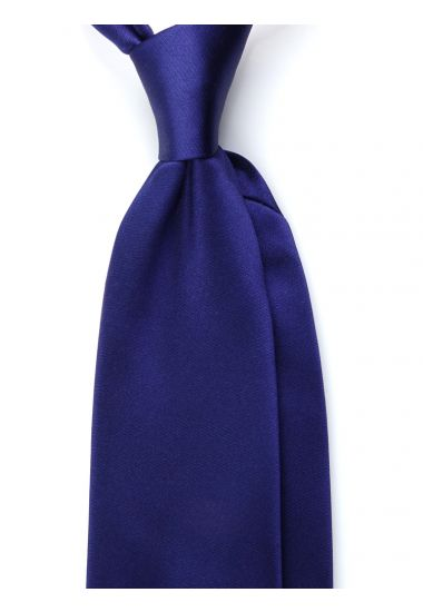 Cravatta 3 pieghe AMANTEA in seta raso - Blu