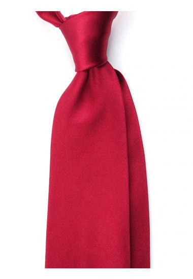 3 Fold tie AMANTEA Satin Silk- Dark Red