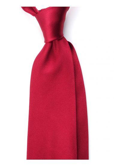 Cravatta 3 pieghe AMANTEA in seta raso - Rosso Scuro