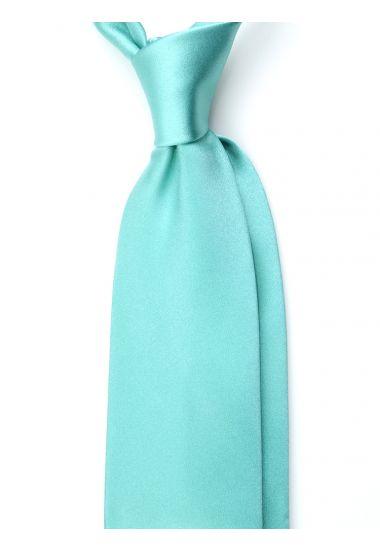 Cravatta 3 pieghe AMANTEA in seta raso - Verde Chiaro