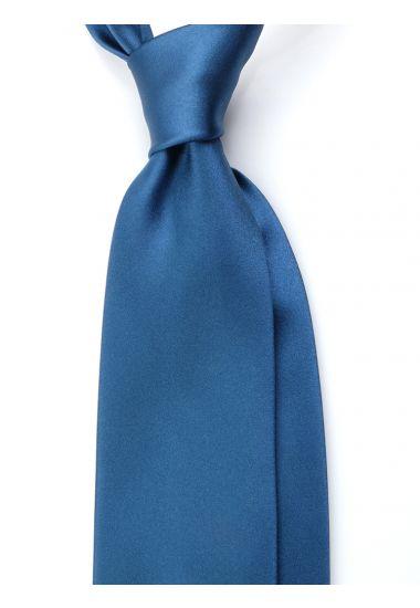 Cravatta 3 pieghe AMANTEA in seta raso - Ottanio