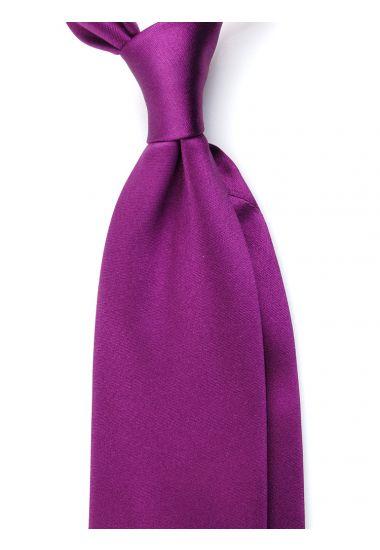 Cravatta 3 pieghe AMANTEA in seta raso - Viola