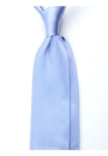 Cravatta 3 pieghe AMANTEA in seta raso - Celeste