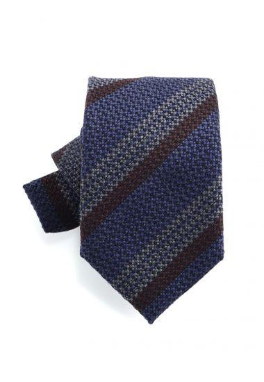 Cravatta 3 pieghe BARAMIA in seta-Blu