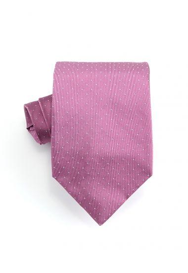 Cravatta 3 pieghe BIRBA in seta-Rosa