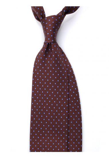 Cravatta 3 pieghe seta lusso stampata BRADFORD- Marrone
