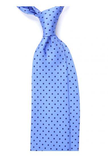 Cravatta 3 pieghe seta lusso stampata BRADFORD- Celeste
