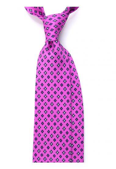 Cravatta 3 pieghe seta lusso stampata OXFORD- Lilla