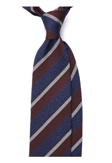 Cravatta 3 pieghe GRANDIA in seta_Blu