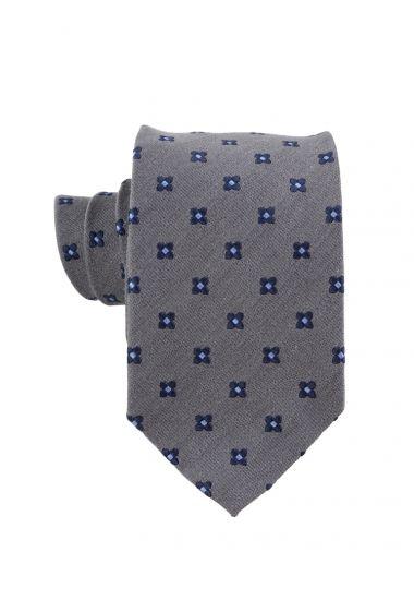 Cravatta 3 pieghe seta/lana GRETA