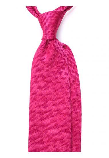Cravatta 3 pieghe LX1617 in seta_Fucsia