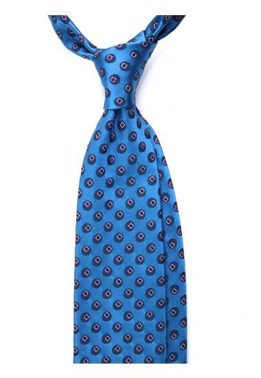 Cravatta 3 pieghe POLLA in seta_Celeste