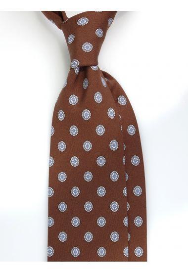 Cravatta 3 pieghe QATAR in seta Newcatwill -Marrone