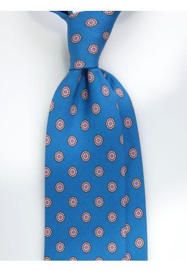 Cravatta 3 pieghe QATAR in seta Newcatwill -Ottanio