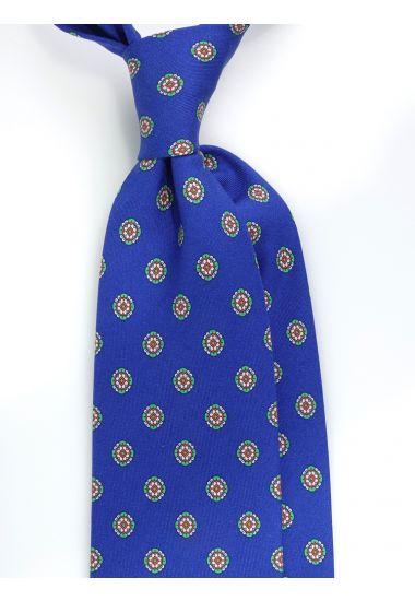 Cravatta 3 pieghe QATAR in seta Newcatwill -Blu Royal