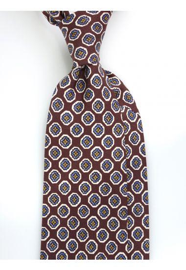 Cravatta 3 pieghe NINSE in seta Newcatwill -Marrone