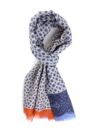 Cotton/Linen scarf MOSAICO