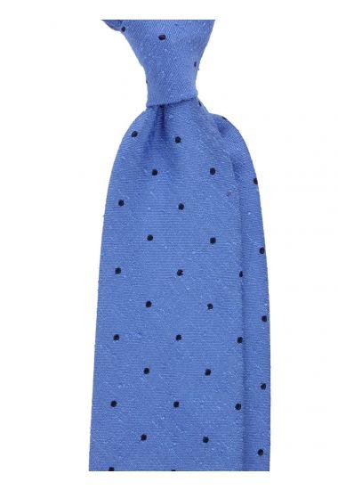Cravatta 3 pieghe TICCA - seta shantung-Celeste