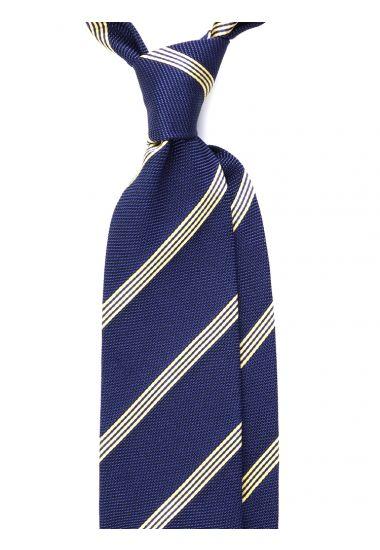Cravatta 3 pieghe GRENADA in seta_Blu