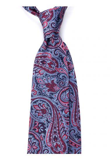 Cravatta 3 pieghe TESSA in seta_Celeste