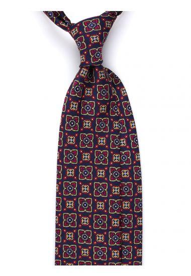 Cravatta 3 pieghe GIOVE in seta_Blu