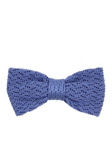 Papillon tricot CAPRI in seta-Blu avion