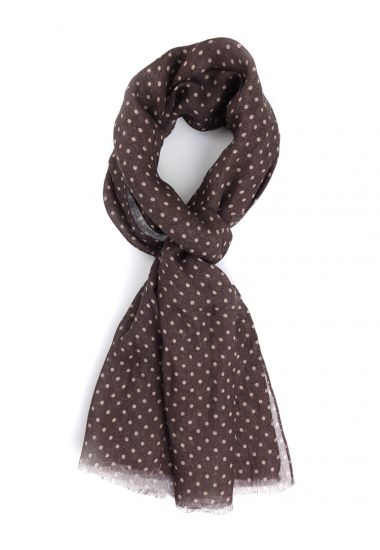 Linen Scarf  CHIODO-Brown