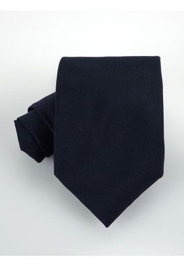 Cravatta 3 pieghe UCRIAII in seta-Blu Scuro