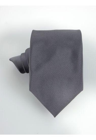 Cravatta 3 pieghe UCRIAII in seta-Grigio