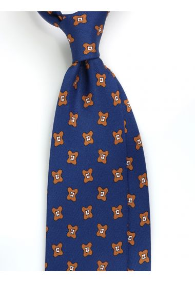 Cravatta 3 pieghe ARTEMISIA in seta twill -Blu