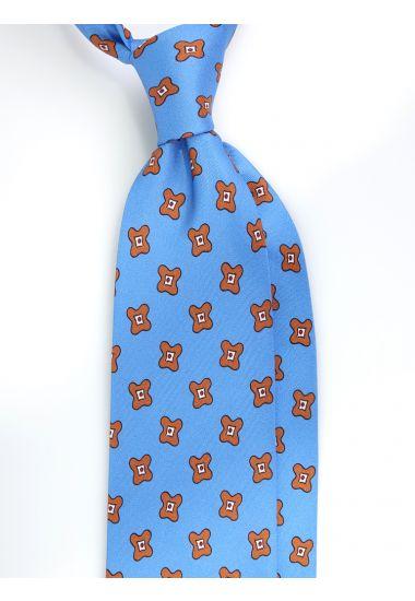Cravatta 3 pieghe ARTEMISIA in seta twill -Celeste