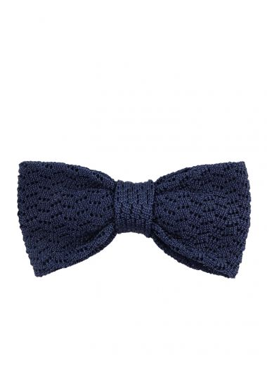 Papillon tricot CAPRI in seta-Blu