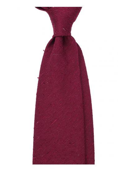 Cravatta 3 pieghe FARMA - Seta shantung-Rosso