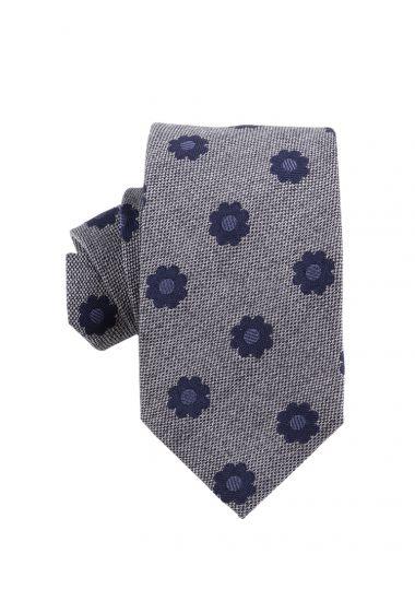 Cravatta 3 pieghe seta/cotone POLIRA