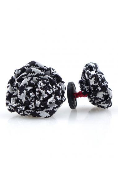 Button lapel flower TOBIT woven silk